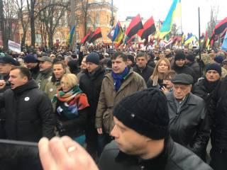 В центре Киева прошел Марш за импичмент. Саакашвили сделал Порошенко интересное предложение